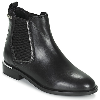 Schuhe Damen Boots Les Tropéziennes par M Belarbi MYLA Schwarz / Silbern