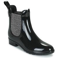 Schuhe Damen Gummistiefel Les Tropéziennes par M Belarbi RAINBOO Schwarz / Silbern