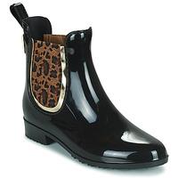 Schuhe Damen Gummistiefel Les Tropéziennes par M Belarbi RAINBOO Schwarz / Leopard