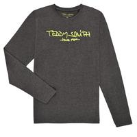 Kleidung Jungen Langarmshirts Teddy Smith TICLASS3 ML Grau