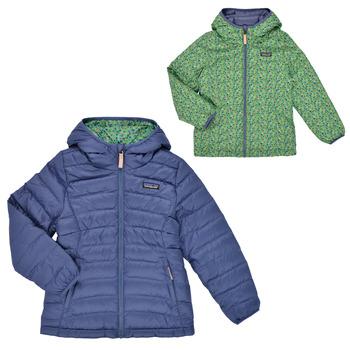 Kleidung Mädchen Daunenjacken Patagonia REVERSIBLE DOWN SWEATER HOODY Blau