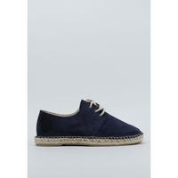 Schuhe Herren Leinen-Pantoletten mit gefloch Senses & Shoes  Blau