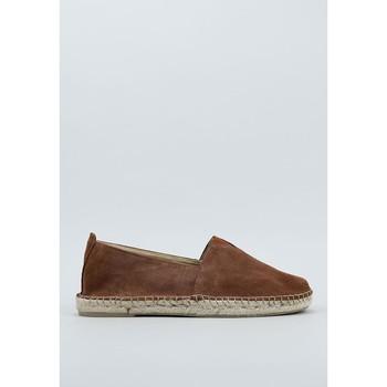 Schuhe Herren Leinen-Pantoletten mit gefloch Senses & Shoes  Braun