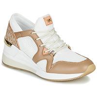 Schuhe Damen Sneaker Low MICHAEL Michael Kors LIV Camel / Weiss