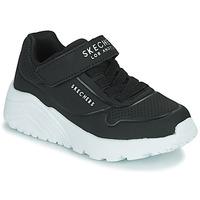 Schuhe Kinder Sneaker Low Skechers UNO LITE Schwarz