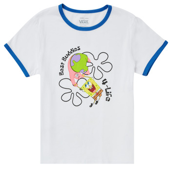 Kleidung Mädchen T-Shirts Vans VANS X SPONGEBOB BEST BUDDIES RINGER Weiss