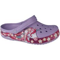 Schuhe Kinder Pantoletten / Clogs Crocs Fun Lab Unicorn Band Clog Violett