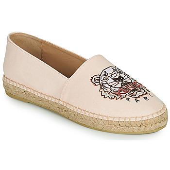 Schuhe Damen Leinen-Pantoletten mit gefloch Kenzo ESPADRILLES CLASSIC TIGER Rose