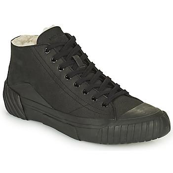 Schuhe Herren Sneaker High Kenzo TIGER CREST SHEARLING SNEAKERS Schwarz