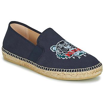 Schuhe Herren Leinen-Pantoletten mit gefloch Kenzo ESPADRILLE ELASTIC TIGER Blau