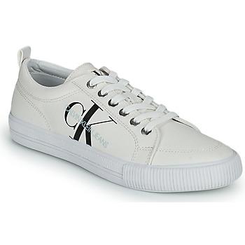 Schuhe Damen Sneaker Low Calvin Klein Jeans VULCANIZED LACEUP SNEAKER Weiss