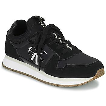 Schuhe Damen Sneaker Low Calvin Klein Jeans RUNNER LACEUP Schwarz