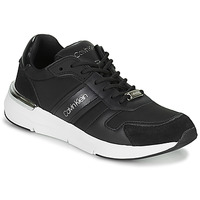 Schuhe Damen Sneaker Low Calvin Klein Jeans FLEXRUNNER MIXED MATERIALS Schwarz / Silbern