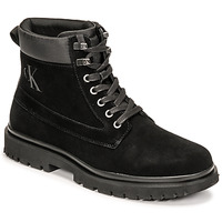 Schuhe Herren Boots Calvin Klein Jeans LUG MID LACEUP BOOT HIKE Schwarz