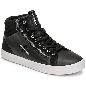Schuhe Herren Sneaker High Calvin Klein Jeans VULCANIZED MID LACEUP Schwarz