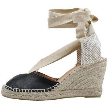 Schuhe Damen Leinen-Pantoletten mit gefloch Senses & Shoes  Schwarz