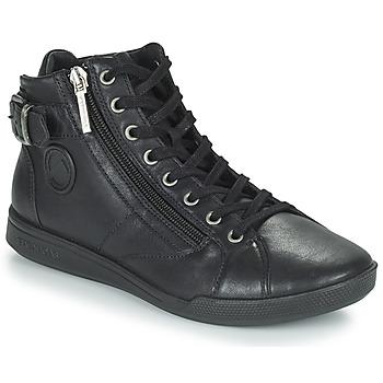 Schuhe Damen Sneaker High Pataugas PALME Schwarz