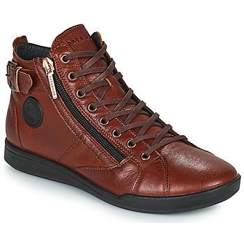 Schuhe Damen Sneaker High Pataugas PALME Kastanie