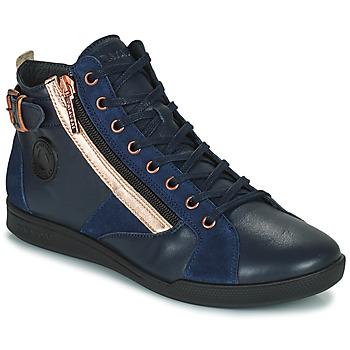 Schuhe Damen Sneaker High Pataugas PALME Marine / Rose