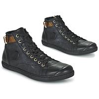 Schuhe Damen Sneaker High Pataugas LATSA Schwarz / Gold