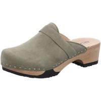 Schuhe Damen Pantoletten / Clogs Softclox Pantoletten Tamina 3345 khaki/khaki grau
