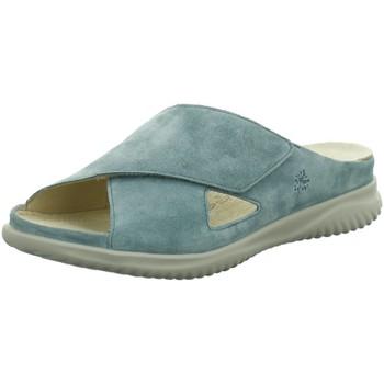 Schuhe Damen Pantoffel Hartjes Pantoletten Pantolette mint 111622-90 blau