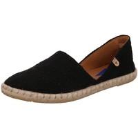 Schuhe Damen Leinen-Pantoletten mit gefloch Verbenas Slipper 030058V-0001-0042 schwarz