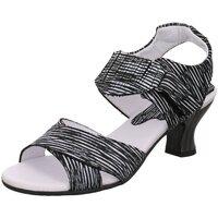 Schuhe Damen Sandalen / Sandaletten Simen Sandaletten 3697A SCHWARZ/WEISS schwarz