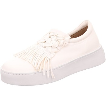 Schuhe Damen Slip on Pomme D'or Premium Lounge 2870 weiß