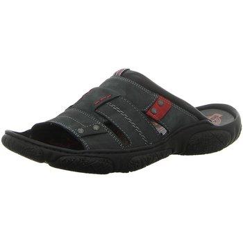 Schuhe Herren Pantoffel Krisbut Offene 1180A-9-1 schwarz