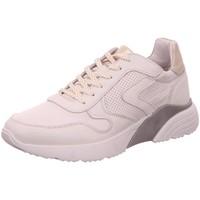 Schuhe Damen Sneaker Low Macakitzbühel Schnürhalbschuh Freizeit Weiß Neu 2817-silvergold weiß