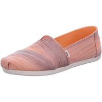 Schuhe Damen Slip on Toms Slipper Alpargata 10016229 brown digital ombre woven 10016229 rosa