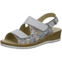Schuhe Damen Sandalen / Sandaletten Longo Sandaletten Sandalette mit Wechselfußbett 1071623 weiß