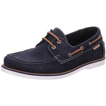 Schuhe Herren Bootsschuhe Marc O'Polo Schnuerschuhe 10226243602201/890 blau
