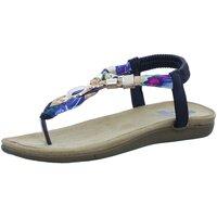 Schuhe Damen Zehensandalen 2 Go Fashion Sandaletten -multi 8018805-9 schwarz