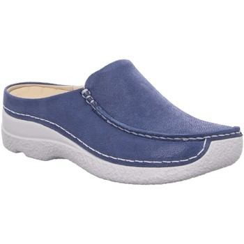 Schuhe Damen Slipper Wolky Slipper Seamy Slide 06250-15-820 blau