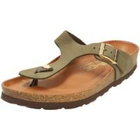 Schuhe Damen Zehensandalen Rohde Pantoletten 5642-61 grün