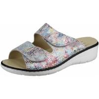 Schuhe Damen Pantoffel Belvida Pantoletten Pantoletten 42.202 WS bunt