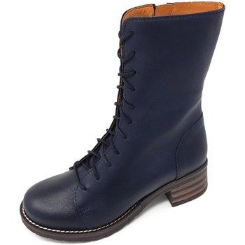 Schuhe Damen Klassische Stiefel Brako Stiefel Military marino Planet 8470 marino blau
