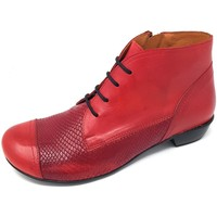 Schuhe Damen Low Boots Brako Stiefeletten Bem rojo skimo 6428 rojo rot