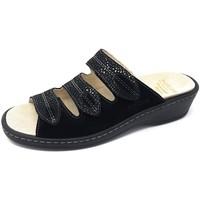 Schuhe Damen Pantoffel Fidelio Pantoletten Soft-Line Schwarz 225003-80 schwarz