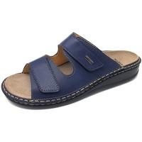 Schuhe Damen Pantoffel Fidelio Pantoletten Soft-Line Atlantic 375025-89 blau