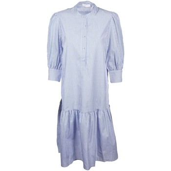 Kleidung Damen Maxikleider Rich & Royal Accessoires Bekleidung Dress with big sleeves 2103-605 756 blau