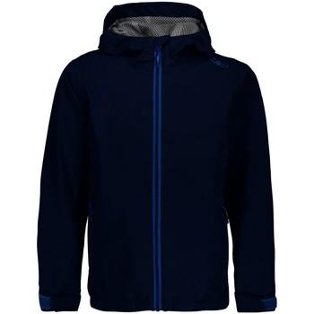 Kleidung Jungen Trainingsjacken Cmp Sport KID RAIN FIX HOOD JACKET 39X7984 M919 blau