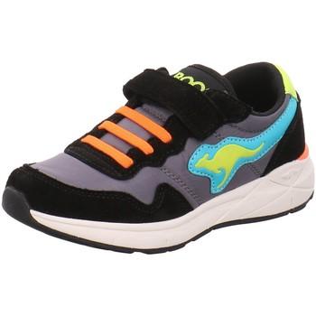 Schuhe Jungen Sneaker Low Kangaroos Klettschuhe Invader RK 19031/5084-5084 schwarz