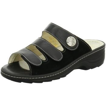 Schuhe Damen Pantoffel Fidelio Pantoletten Hallux 236015-36 schwarz