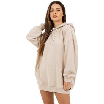 Kleidung Damen Sweatshirts Sixth June Robe sweat Femme beige