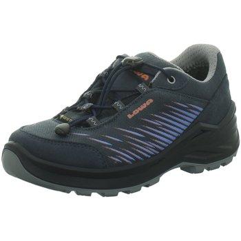 Schuhe Jungen Wanderschuhe Lowa Bergschuhe Zipp Slipper Gore 640119+650119 Zirrox GTX LO blau