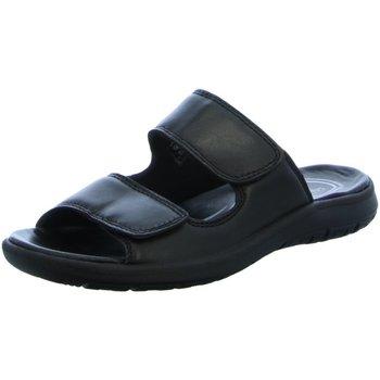 Schuhe Herren Pantoffel Salamander Offene LOGATO 31-84006-01 schwarz