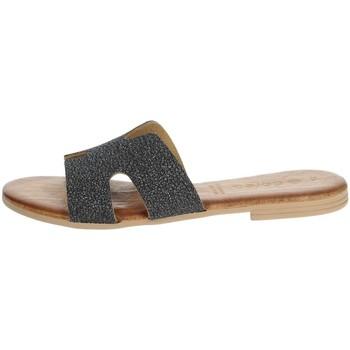 Schuhe Damen Pantoffel Dorea MH103 Anthrazitgrau